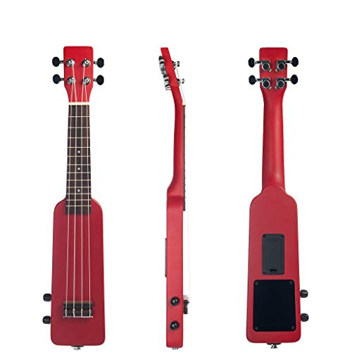 Cavis 21 Zoll Ukulele Ukulele Uke Kit mit 3,5 Mm Gigbag Audio Kabel Silent Electrisch Ukulele Soprano Uke-Rot