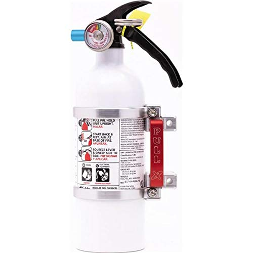 Silver Axia Alloys Quick Release Fire Extinguisher Mount With Extinguisher