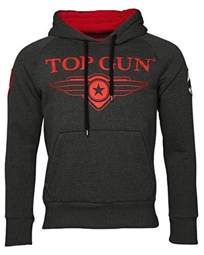 Top Gun Herren Sweatshirt Kapuzenpullover TG2019-1012 (M, Anthracite)