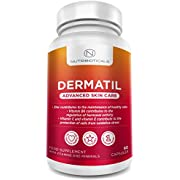 #1 DERMATIL 2.0 New Version from November 2017 to Support Skin Care and Oily Skin Made in UK with Pantothenic Acid, Collagen, Zinc, Co-Enzyme Q10 and Vitamins A, C, E