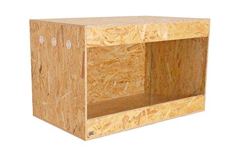 Happy-Echse OSB Terrarium, Holz Terrarium, Terrarium, Seitenbelüftung, 100 x 60 x 60