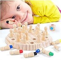 YANJDN メモリマッチスティックゲームキッドインテリジェンスIqブレインティーザーマニュアル脳親子の知的レジャーおもちゃの開発 (多色)