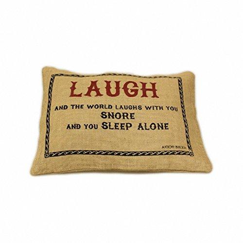 Jute Cushion Cover - Laugh