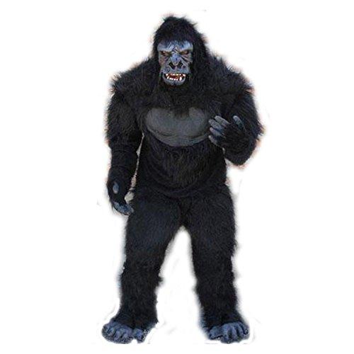 Professional Gorilla Ape Suit Complete 5 Piece Costume Black