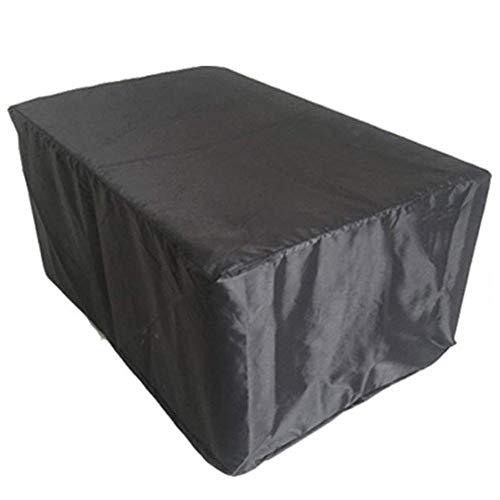 QIANCHENG-tarpaulins Bâches De Protection Couvertures De Meubles De Jardin Couverture De Patio Table Et Chaise D'extérieur Protection Anti-poussière,14 Tailles, 420D,Noir,242x162x100cm