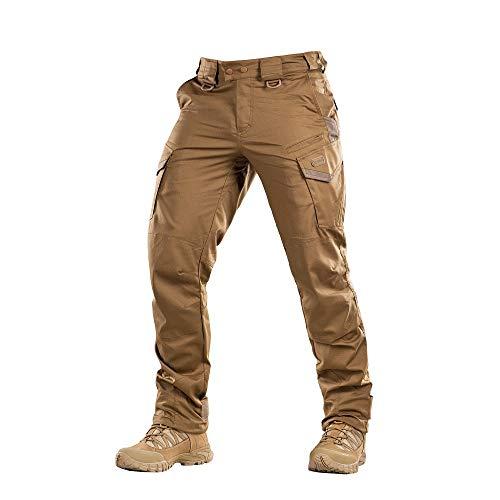 Aggressor Flex - Tactical Pants - Men Black Cotton with Cargo Pockets (Coyote Brown, W32 / L32)