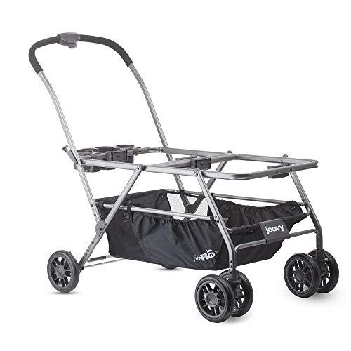 Joovy Twin Roo+ Kinderwagen plus Maxi-Cosi Autositzadapter, Doppel-Buggy für Zwillinge mit Maxi-Cosi Autositzen