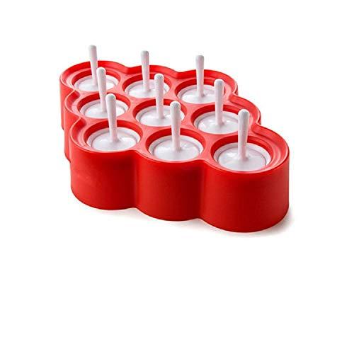 Moldes Para Helados Silicona Ice Lolly Mini Ice Pops Mold Ice Cube Cream Ball Maker Tray Tools Diy Moldes De Paletas De Colores Con 9 Pegatinas 1Pcs