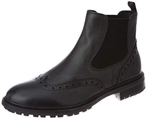 Geox Herren U BRENSON A Chelsea Boot, Black, 46 EU