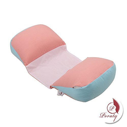 Poraty Side Sleeper Pregnancy Support Pillow |Double Wedge for Both Bump and Back |Adjustable Center...