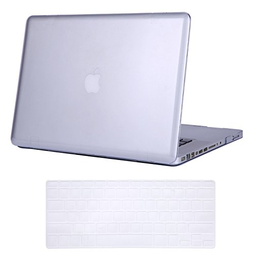 HDE Clear Plastic Hard Shell Case for Apple MacBook Pro 15 inch w/CD Drive Case (Released Before 2012 Model: A1286), Crystal Clear