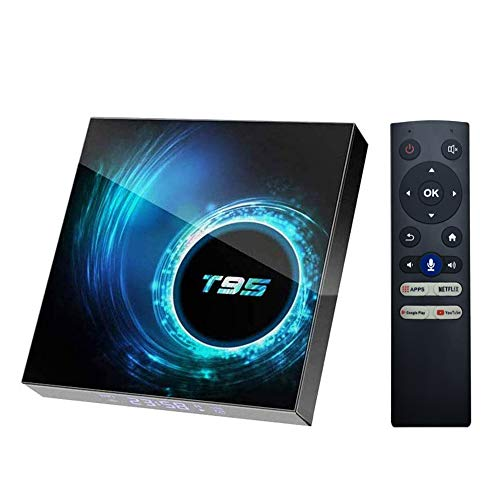 Android 10.0 TV Box,EASYTONE Android Box 4GB Ram 32GB ROM Allwinner Quad Core 64 Bit Supports Dual WiFi 2.4G+5G /BT5.0/4k/6K Ultra HD/H.265 /3D Smart TV Boxes with Voice Remote Control