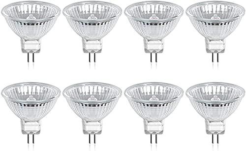 DoRight MR16 GU5.3 Halogenlampen, 20W 12V Niederspannung dimmbar warmweiß 2800K Strahlerlampen, GU5.3 Bi-Pin Base 320 Lumen Reflektorlampe für Einbau Schienenbeleuchtung, 8 pcs
