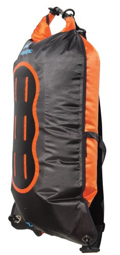 AQUAPAC wasserdichter Beutel Noatak Wet & Dry, schwarz-orange, 15 liters, 768