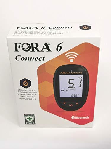 Fora 6 Connect, 6 in 1 Messgerät, zur Bestimmung des Blutzuckers (mmol/l) und andere Parameter