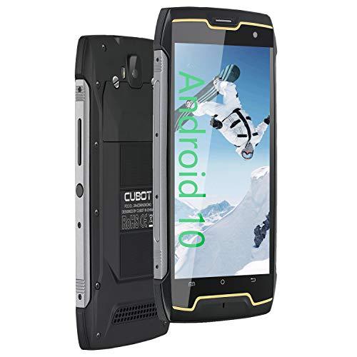 CUBOT King Kong CS Móvil Libre Resistente, Smartphone Antigolpe Impermeables IP68, 4400mAh, Android 10, Pantalla 5 Pulgadas HD, 16 GB ROM(Ampliable 64GB), Dual SIM, 13,0MP Cámara, Face-ID