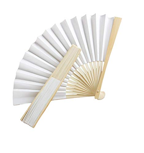 Fashioncraft,Wedding Party Bridal Shower Favors, White Paper Fans, Set of 100