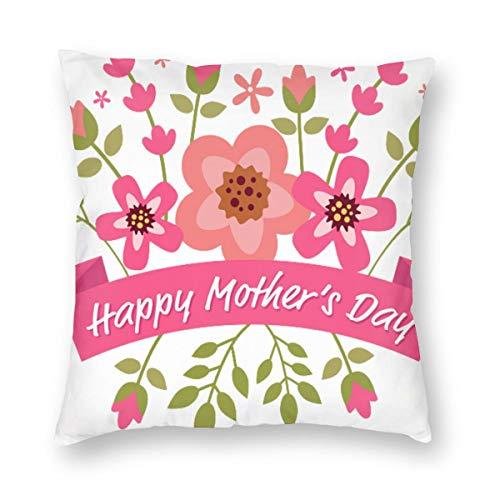 Einst Happy Mothers Day PNG TransparentFunda de cojín para sofá, 45 x 45 cm,