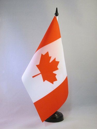 AZ FLAG TISCHFLAGGE Kanada 21x14cm - KANADISCHE TISCHFAHNE 14 x 21 cm - flaggen