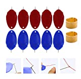 KONGMAODS Needle Threader Set with Sewing Thimble For Hand Sewing 10/20 Pieces, Plastic Wire Loop DIY Simple Needle Threader Hand Machine Sewing Tool For Sewing Crafting,10pcs