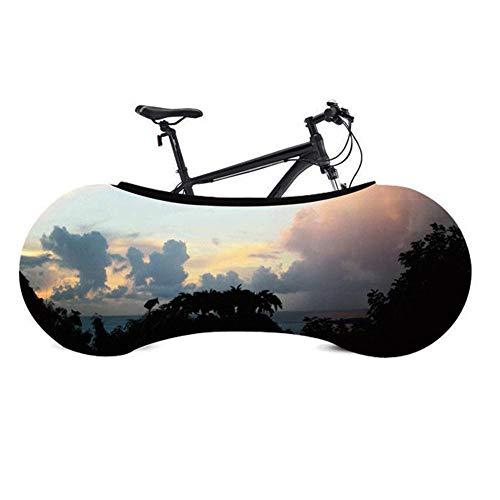 Ksruee Funda Bici para Interiores contra Polvo-Funda Bicicleta Decorativas-Cubierta Protector de Bicicleta-Forro para Bicicletas-Tela Elástica-Portátil