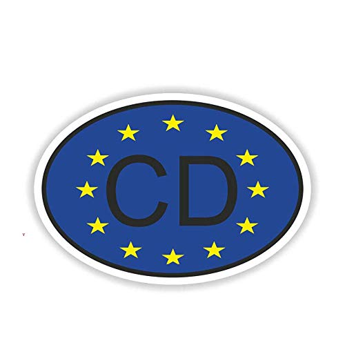 Cd Corps Diplomatic Car Bumper Window Wall Maleta Decal Sticker Decals Diy Decor(Juego De 2)