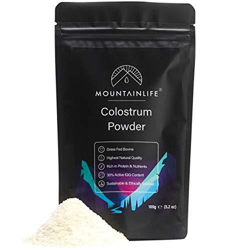 Mountainlife Kolostralmilchpulver 100g | 30% Aktiver IGG-Gehalt | Protein- & Nährstoffreich | Höchste Natürliche Qualität | Wachstumsergänzungspulver | Unterstützt Immunsystem & Darmgesundheit