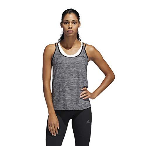adidas U-Back - Camiseta de Tirantes para Mujer - Negro - X-Large