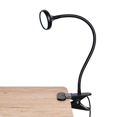LEPOWER LEDクリップライト デスクライト クリップ式 USB対応 2段階調光調色 目に優しい 電気スタンド PC/仕事/卓上/ベッドサイド/読書灯/譜面ライト(ブラック)