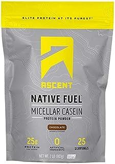 Ascent Native Fuel Micellar Casein Protein Powder - 2 Lbs - Vanilla Bean