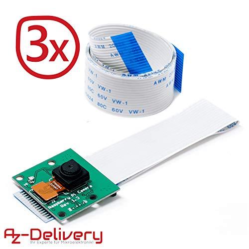 AZDelivery Camera per Raspberry Pi Modulo e cavo flex 100cm Fotocamera con eBook
