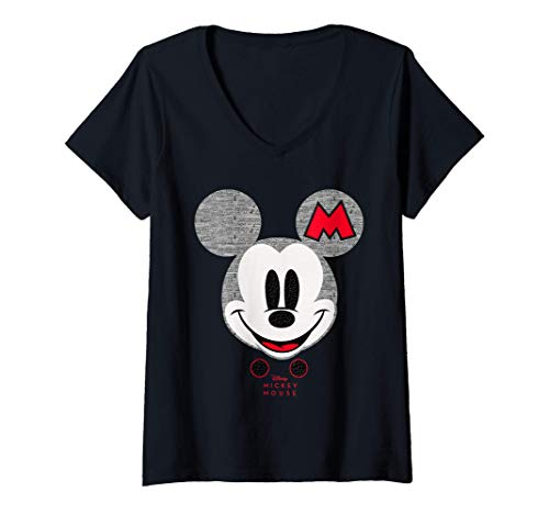 Mujer Disney Year of the Mouse Mickey Mouse Club October Camiseta Cuello V