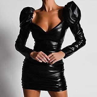 Naliha Donne Casuale Bodycon Vestito Lunga Sleeeve Scintillante Magra Club Mini Vestiti