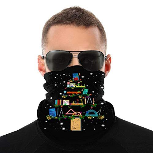 XCNGG Multifunktionales Kopfbedeckungs-Kopftuch Mikrofaser-Halswärmer Maths Decor...
