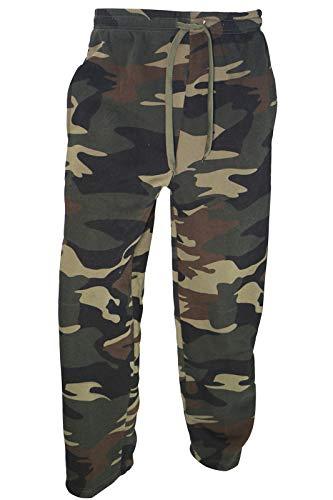 Facitisu Men's Jogger Sweatpants Elastic Lounge Workout Bottom Pants with Pockets Camo Green Medium