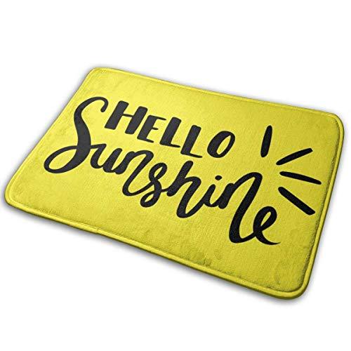 Hello Sunshine Alfombrilla de baño Alfombrilla antideslizante Alfombra de baño absorbente Alfombra para interiores/exteriores/Cocina/Entrada/Baño 40cm * 60cm