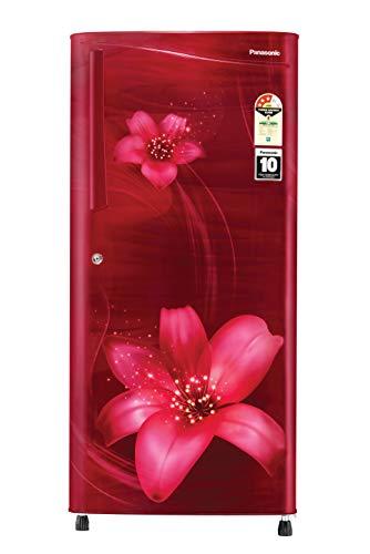 Panasonic 194 L 3 Star Inverter Direct-Cool Single Door Refrigerator (NR-A193VFMX1, Maroon Floral)