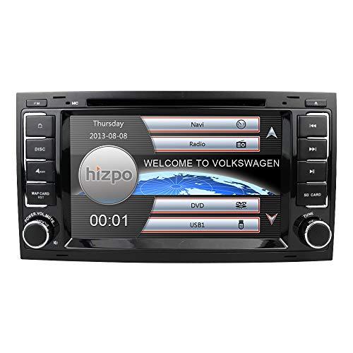 Wince 6.0 7-Zoll-Doppel-Din-Auto-DVD-Player Special Kompatibel mit Volkswagen Touareg Transporter T5 Multivan Unterstützung GPS-Navigation Bluetooth USB-Radio Lenkradsteuerung Eine kostenlose SD-Karte