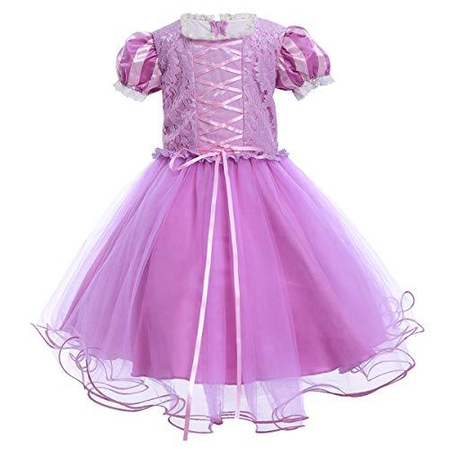 IBTOM CASTLE - Disfraz de princesa de Sofa Rapunzel para nias, disfraz, fiesta de disfraces, Halloween, Navidad, cumpleaos, carnaval, baile, baile, baile, baile, pelota, sesin de fotos para nios