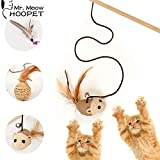 Kiki N Pooch Candy Shape Feather Ball Cat Toys Creative Sisal Interactive Pet