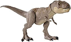 Celebrate classic moments, themes and characters with the Jurassic World Legacy Collection Extreme Chompin' Tyrannosaurus Rex figure from the Jurassic World franchise features a HUGE BITE, realistic sculpting and authentic decoration. For extra-...