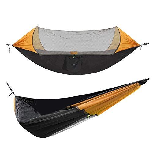 Hängematte Camping Hängematte mit Zipper Moskitonetz Ultraleichte Hammock Sonnenschutz für 2 Personen,...