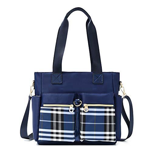 ZQKJLH Crossbody Bag for Women, MJH-B07 Ladies Casual Sporty Waterproof Nylon Shoulder Bag Large Messenger Handbag for Shopping Travel - Black/Purple/Blue/Red - 12.6 * 5.5 * 11.4 inches