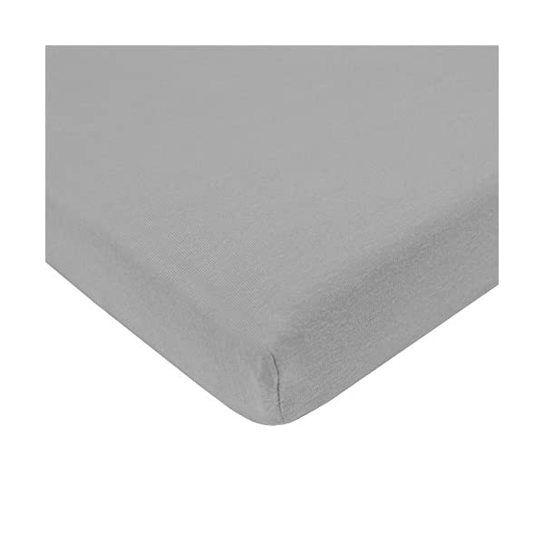 American Baby Company 100% Natural Cotton Jersey Knit Fitted Bassinet Sheet,Pink/Gray/White, (Pack of 3)