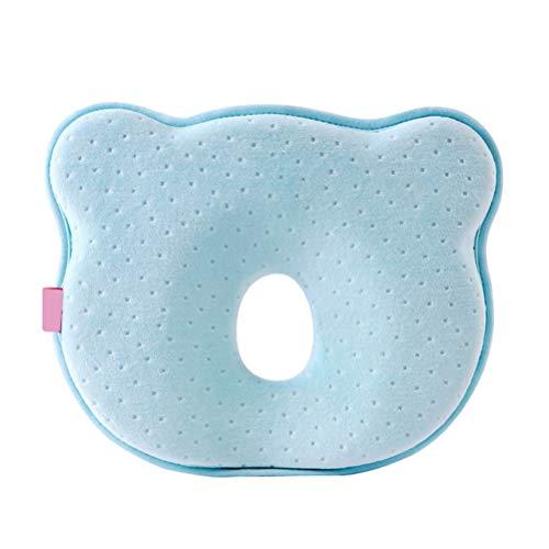 NOENNULL Babykissen für Baby- und Kleinkind Kopfstützkissen, Atmungsaktives Babykopfkissen Orthopädisches Gegen Plattkopf und Kopfverformung