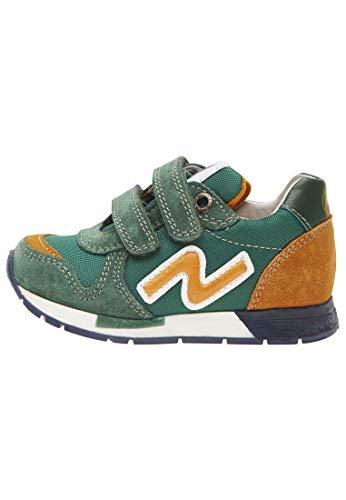 Naturino SLAM VL.-Sneaker aus Leder und Gewebe-grün grün 28