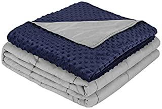 """STARKHAUSEN Premium Adult Weighted Blanket & Removable Minky Cover - 9 kg (20 lbs) - 153X203 cm (60""""x80"""") - for Individual..."""