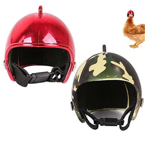 Casco de Gallina Casco de Seguridad para Mascotas Sombrero de Aves Pequeñas Mascotas Pet Casco para Proteger la Cabeza, Parapájaros, Gallinas y Otras Aves de Corral Divertido Casco de Seguridad