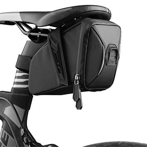 YMOMG Bolsa de sillín de bicicleta, bolsa de almacenamiento de cuña, herramienta de reparación de bicicletas, bolsa de cintura, suministros de ciclismo