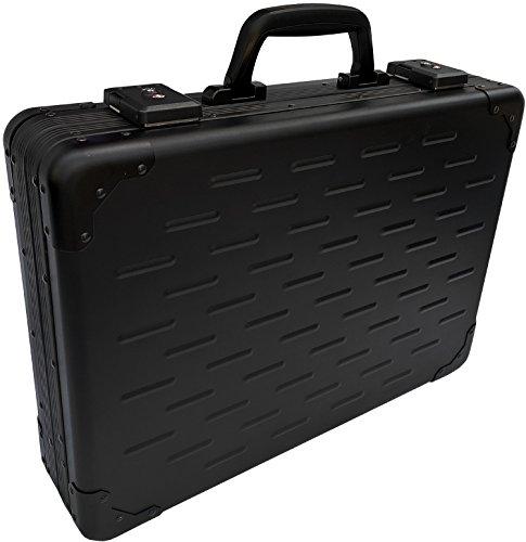 UltraArmor Solid Aluminium Große Executive Laptop-Aktentasche Aktenkoffer Kohlenschwarz